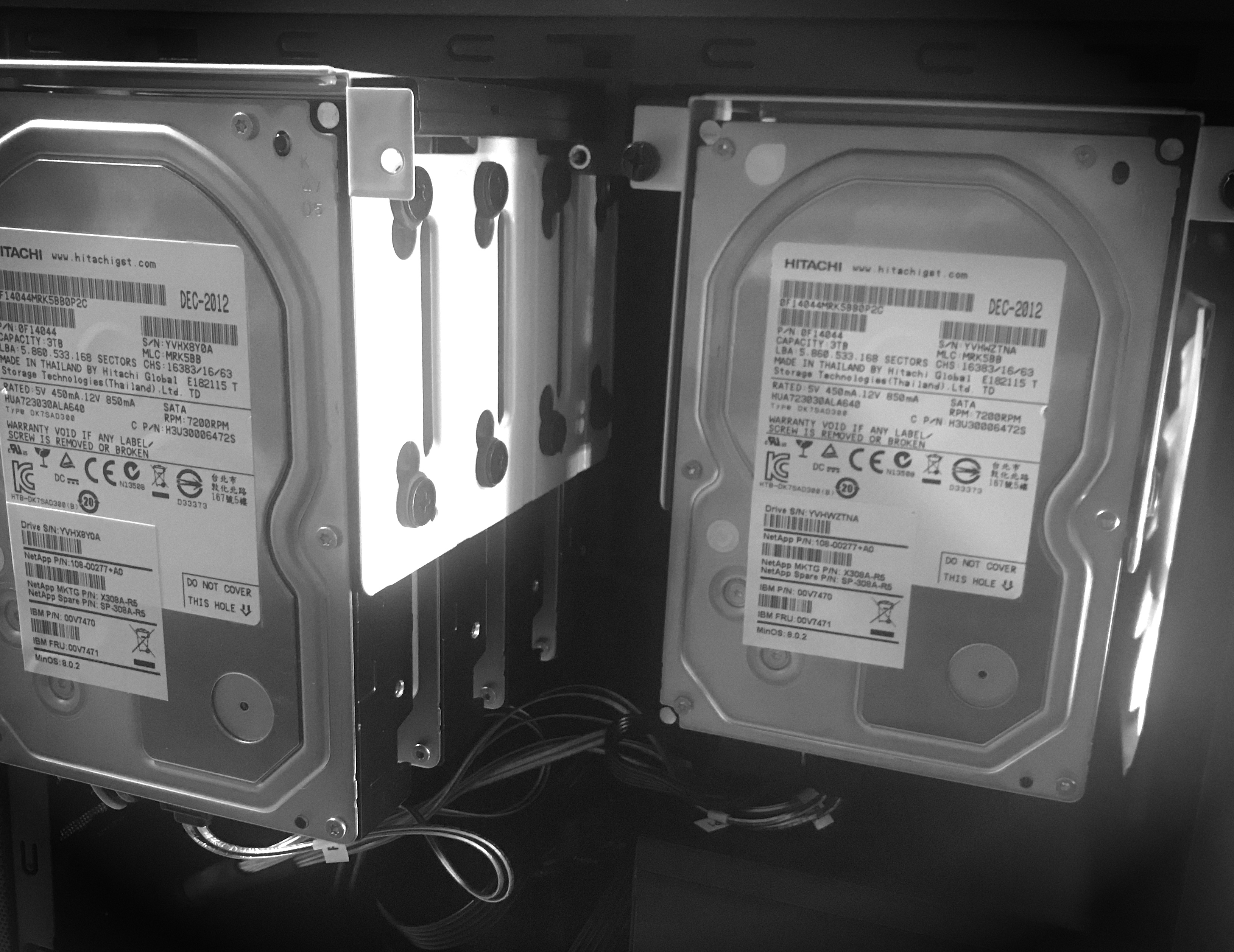 HDDs installed