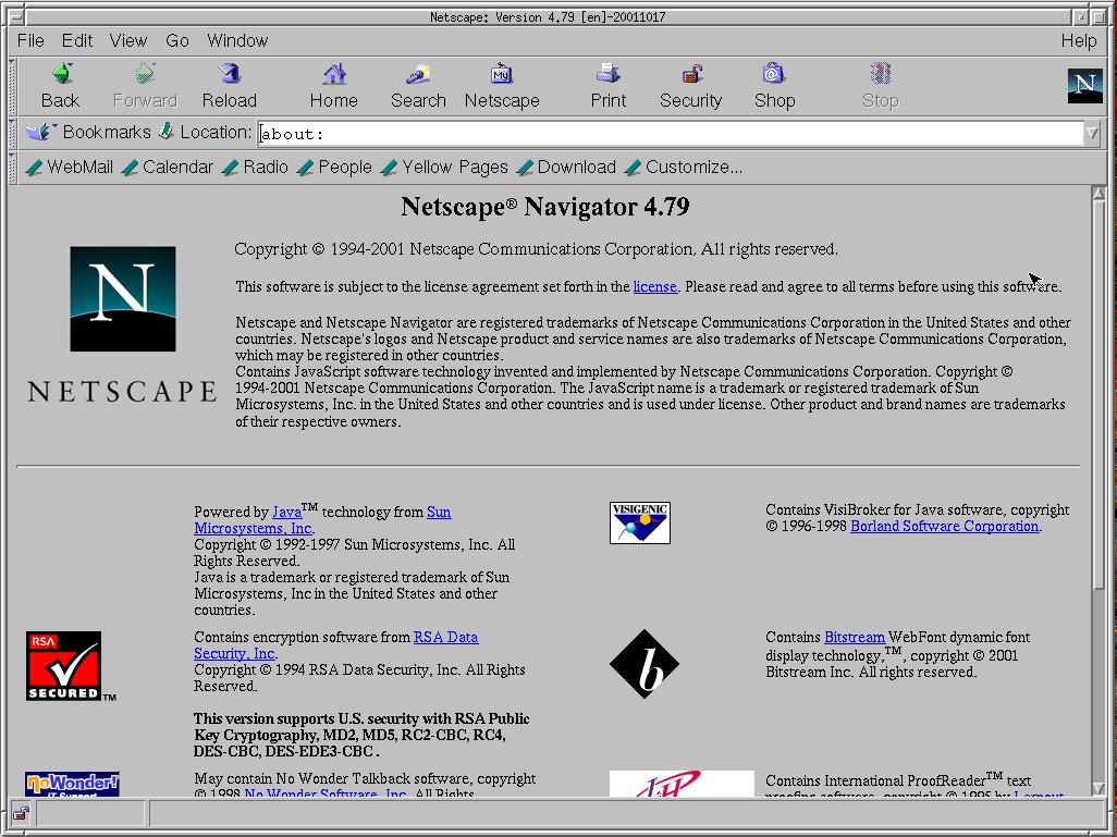 Netscape 4.79