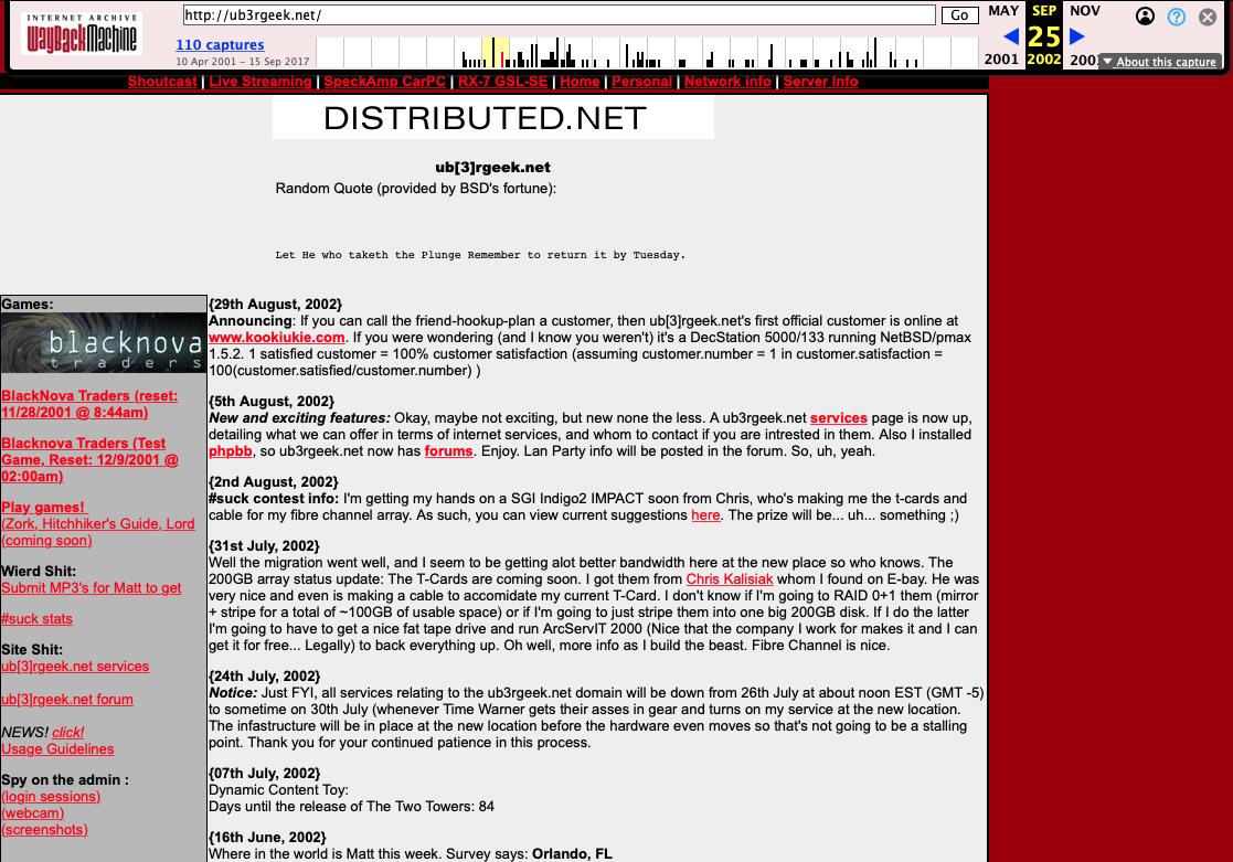 ub3rgeek.net circa 2002