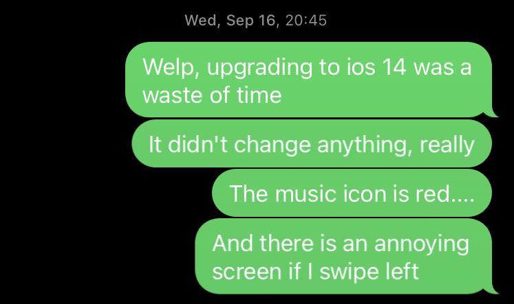 iOS 14 texts